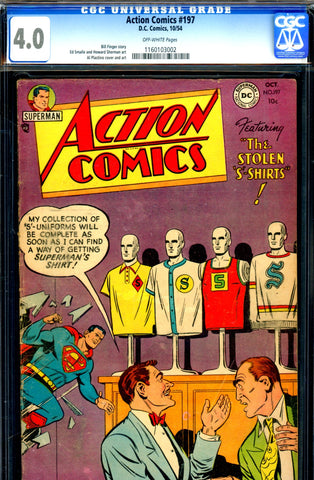 Action Comics #197 CGC graded 4.0 - Bill Finger story - SOLD!