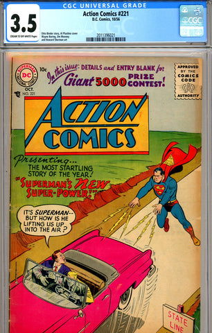 Action Comics #221 CGC graded 3.5 (1956) - SOLD!