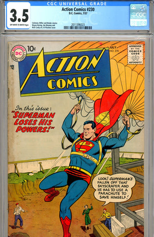 Action Comics #230 CGC graded 3.5