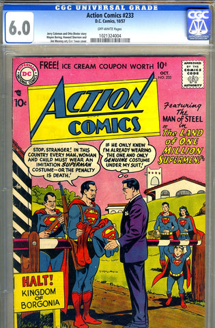 Action Comics #233   CGC graded 6.0 - SOLD!
