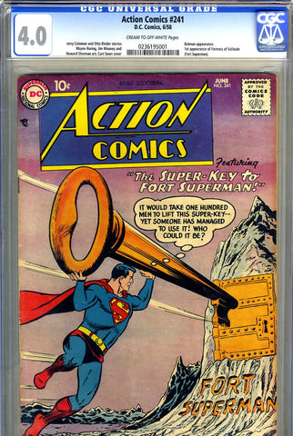 Action Comics #241   CGC graded 4.0 - first Fortress of Solitude - SOLD