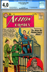 Action Comics #248 CGC graded 4.0 first Congorilla