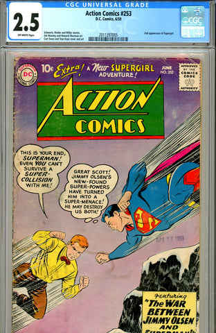 Action Comics #253 CGC graded 2.5 second Supergirl