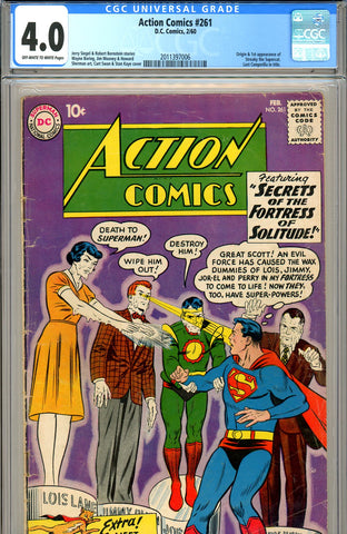 Action Comics #261 CGC graded 4.0 first Streaky the Cat - SOLD!