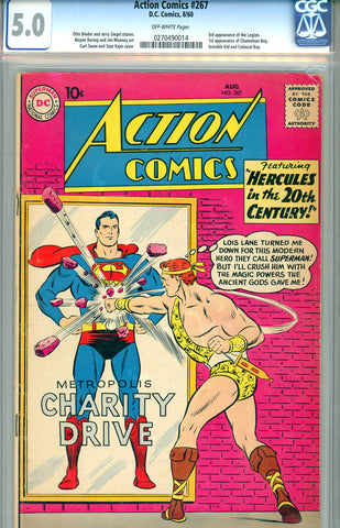 Action Comics #267  CGC graded 5.0 - SOLD!