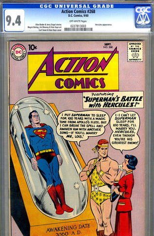 Action Comics #268   CGC graded 94 - HIGHEST GRADED - SOLD