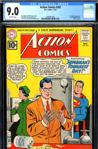 Action Comics #282 CGC graded 9.0 - Lex Luthor appearance SOLD!