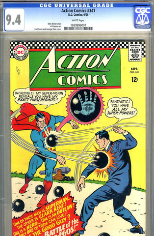 Action Comics #341   CGC graded 9.4 - white pages - SOLD