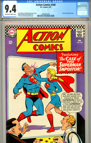 Action Comics #346 CGC graded 9.4 SOLD!
