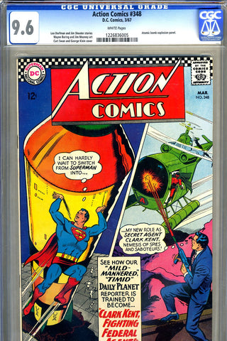 Action Comics #348   CGC graded 9.6 - white pages - SOLD