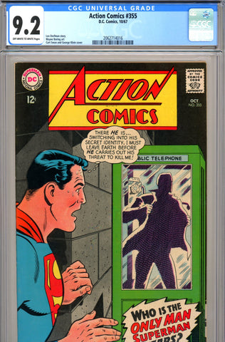 Action Comics #355 CGC graded 9.2 SCARCE IN GRADE!