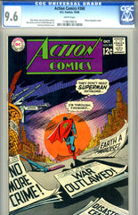 Action Comics #368 CGC graded 9.6  white pages