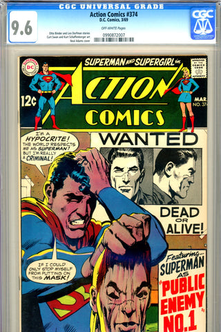 Action Comics #374 CGC graded 9.6 - Neal Adams cover