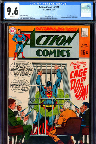 Action Comics #377 CGC graded 9.6 - Neal Adams cover   SOLD!