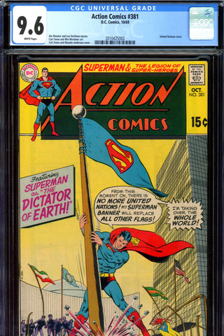 Action Comics #381 CGC graded 9.6 - white pages - SOLD!