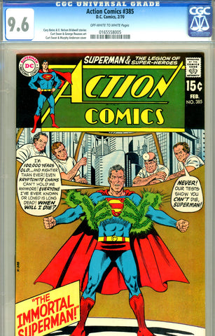 Action Comics #385 CGC graded 9.6 SOLD!