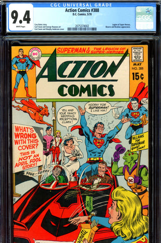Action Comics #388 CGC graded 9.4 - Legion story