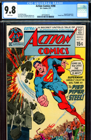 Action Comics #398 CGC graded 9.8 HIGHEST GRADED SOLD!