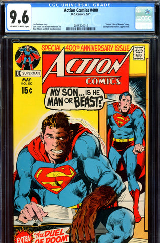 Action Comics #400 CGC graded 9.6 Anniversary Issue SOLD!