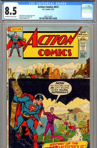 Action Comics #412 CGC graded 8.5 Nick Cardy cover - SOLD!