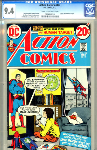 Action Comics #422   CGC graded 9.4 origin Human Target