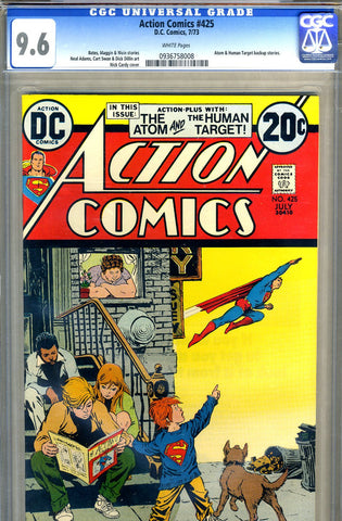 Action Comics #425   CGC graded 9.6 - white pages - SOLD!