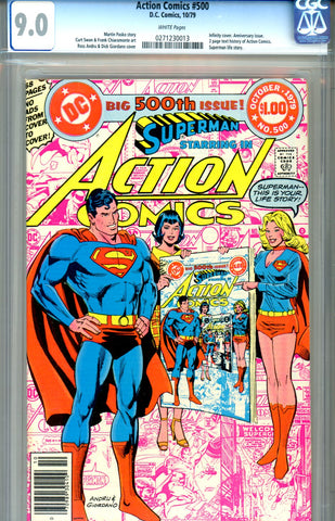 Action Comics #500   CGC graded 9.0 infinity cover SOLD!