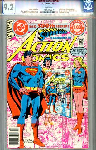 Action Comics #500   CGC graded 9.2 infinity cover SOLD!