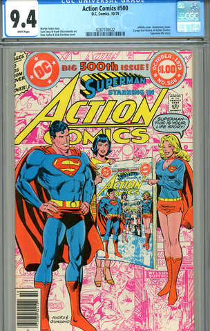Action Comics #500   CGC graded 9.4 infinity cover SOLD!