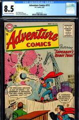 Adventure Comics #212 CGC graded 8.5 scarce in high grades (1955)