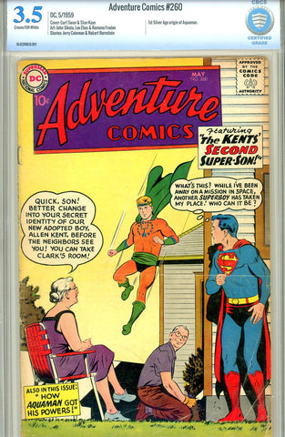 Adventure Comics #260   CBCS graded 3.5 first SA origin Aquaman SOLD!