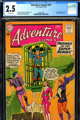 Adventure Comics #267 CGC 2.5  second EVER Legion