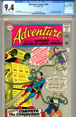 Adventure Comics #344 CGC graded 9.4 first Computo