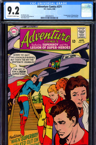 Adventure Comics #371 CGC graded 9.2 1st Chemical King - PENDING