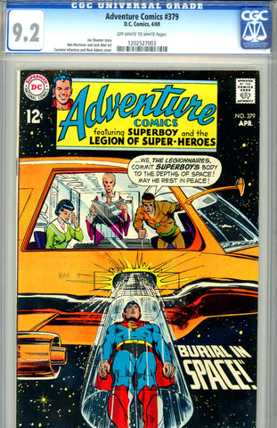 Adventure Comics #379   CGC graded 9.2 Neal Adams cover