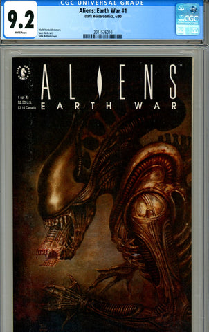 Aliens: Earth War #1 CGC graded 9.2