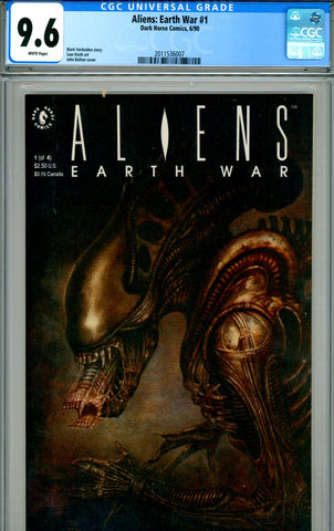 Aliens: Earth War #1 CGC graded 9.6 SOLD!