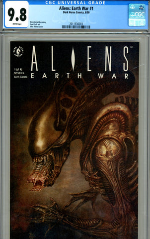 Aliens: Earth War #1 CGC graded 9.8 HIGHEST GRADED SOLD!