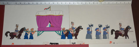 "Original production cel -""Aladdin""- by Golden Films 038 OVER-SIZED 31"" x 10"""