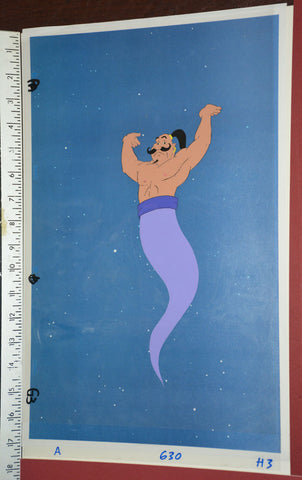 "Original production cel -""Aladdin""- by Golden Films 042 OVER-SIZED 18"" x 10.50"""