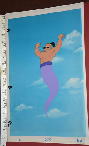 "Original production cel -""Aladdin""- by Golden Films 043 OVER-SIZED 17.25"" x 10.50"""