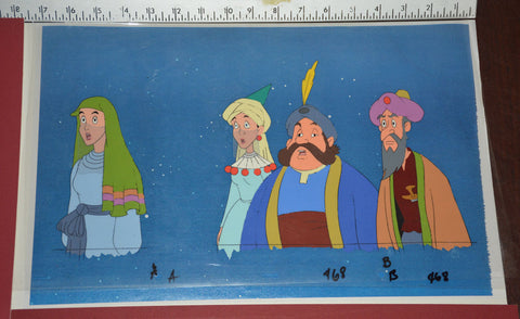 "Original production cel -""Aladdin""- by Golden Films 044 OVER-SIZED 17.50"" x 10.50"""
