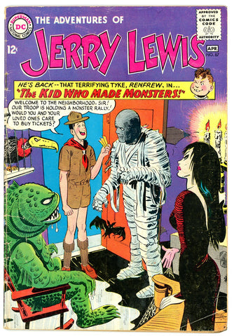 Adventures of Jerry Lewis #87 VERY GOOD- 1965 monster c/s