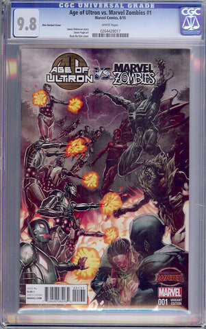 Age of Ultron vs. Marvel Zombies #1  CGC graded 9.8 - Kim Cover - HIGHEST - SOLD!