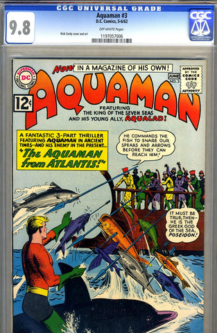 Aquaman #03   CGC graded 9.8 - HIGHEST GRADED - SOLD!