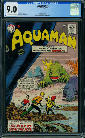 Aquaman #08 CGC graded 9.0 - SOLD!