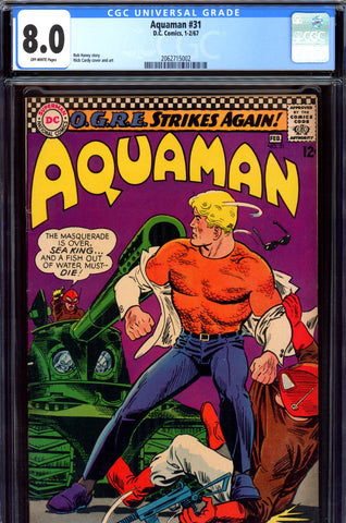Aquaman #31 CGC graded 8.0 - Nick Cardy cover and art SOLD!