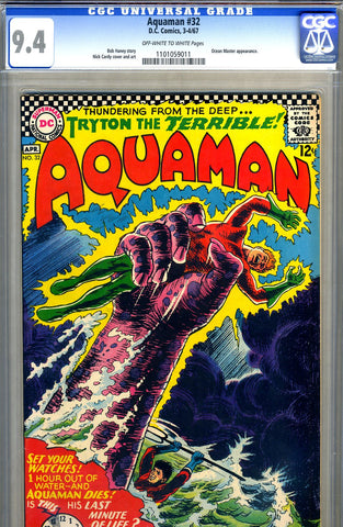Aquaman #32   CGC graded 9.4 - SOLD