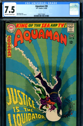 Aquaman #38 CGC graded 7.5 - Nick Cardy cover and art SOLD!