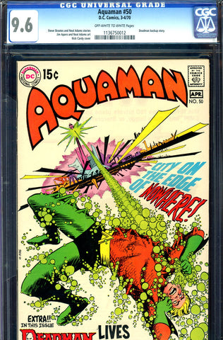 Aquaman #50 CGC graded 9.6 - Neal Adams art